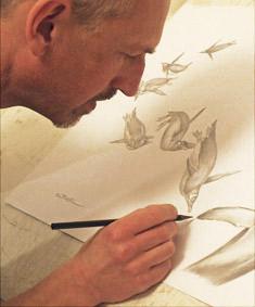 Steve-completing artwork Gentoo Penguin Pursuit